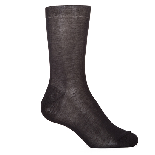 Luxury Fine Cotton Plain Dress Socks-socks-Fifth Avenue Menswear