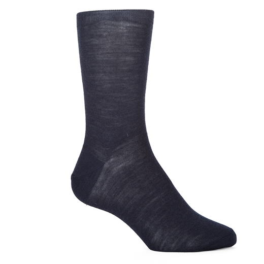 Luxury Fine Wool Plain Dress Socks-socks-Fifth Avenue Menswear