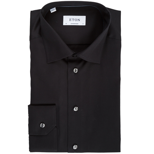 Contemporary Fit Luxury Cotton Twill Dress Shirt-shirts-Fifth Avenue Menswear