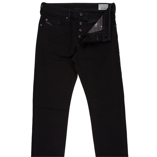 Buster Reg Slim Taper Stretch Black Denim Jean-jeans-Fifth Avenue Menswear