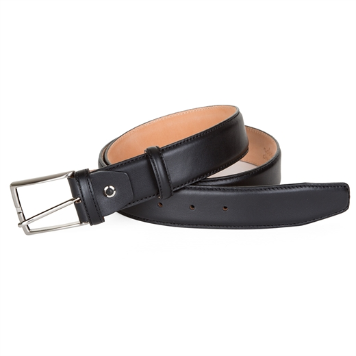 Luxury Stitched Edge Leather Dress Belt-accessories-Fifth Avenue Menswear