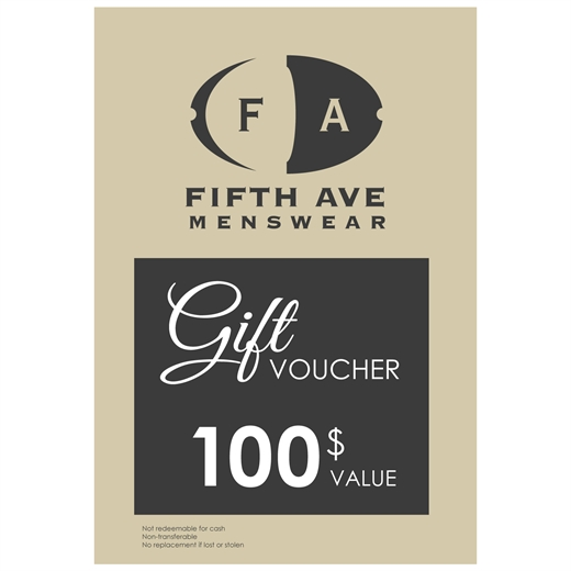 $100 Gift Voucher-gift vouchers-Fifth Avenue Menswear