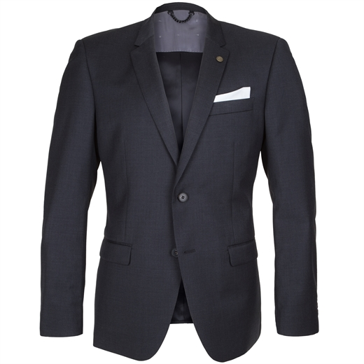 Anchor Charcoal Wool Suit Jacket-essentials-Fifth Avenue Menswear
