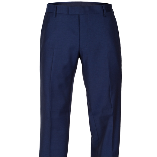 Razor Bright Blue Wool Suit Trouser-trousers-Fifth Avenue Menswear