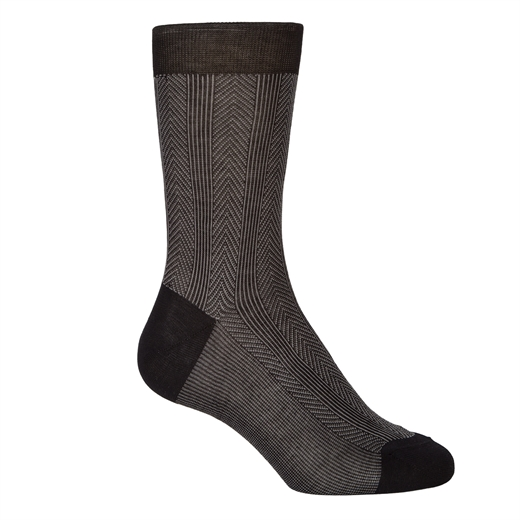 Luxury Fine Cotton Pattern Dress Socks-socks-Fifth Avenue Menswear