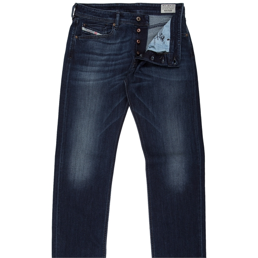Waykee Reg Straight Stretch Aged Denim Jeans-jeans-Fifth Avenue Menswear
