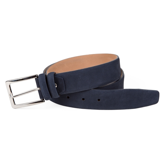Luxury Nubuck Leather Dress Belt-gifts-Fifth Avenue Menswear