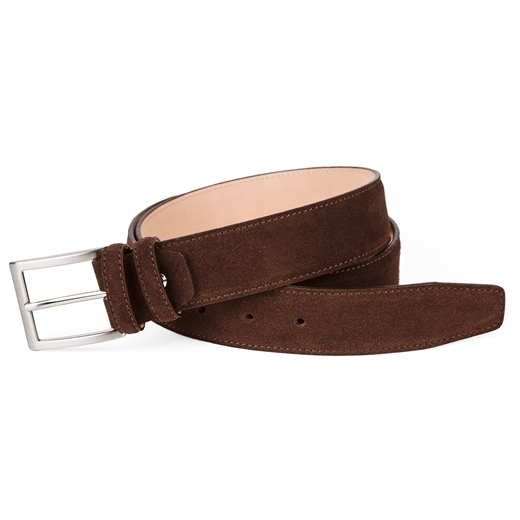 Luxury Suede Stitched Edge Belt-accessories-Fifth Avenue Menswear