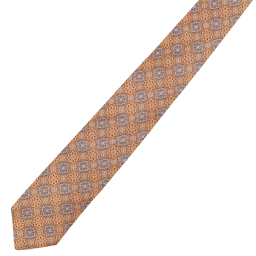 Luxury Silk Geometric Pattern Tie-accessories-Fifth Avenue Menswear