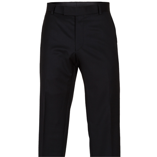 Rebellion Black Dress Trouser-trousers-Fifth Avenue Menswear