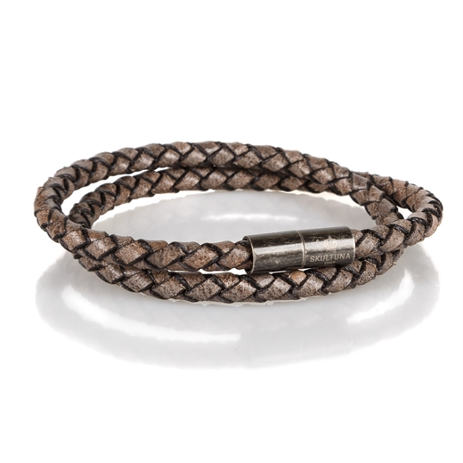 Graphite Stealth Leather Bracelet-gifts-Fifth Avenue Menswear