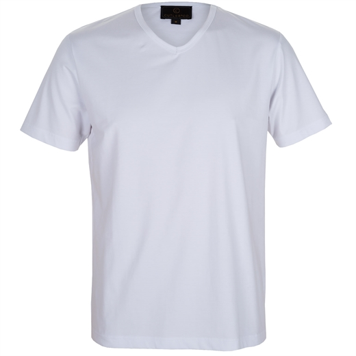 Henry Plain V-Neck T-shirt-t-shirts & polos-Fifth Avenue Menswear