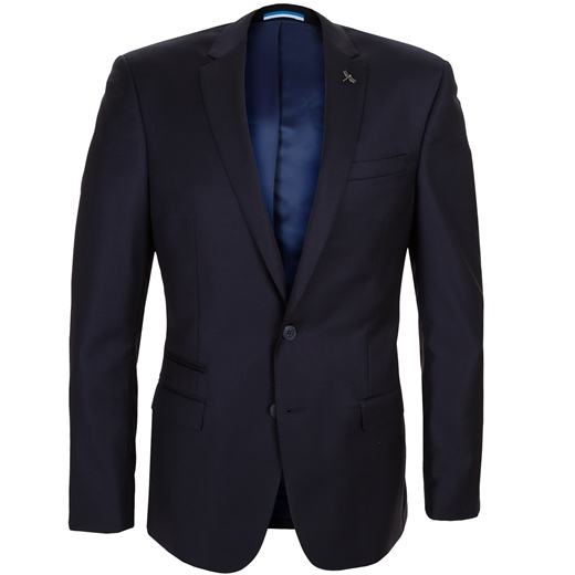Breeze Dark Navy Suit Jacket-work-Fifth Avenue Menswear