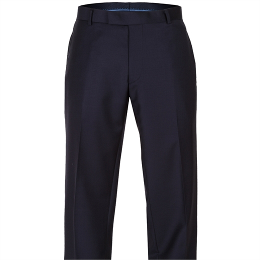 Caper Dark Navy Dress Trouser-trousers-Fifth Avenue Menswear