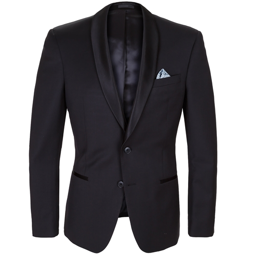 Spectre Black Shawl Collar Tuxedo Jacket-suits-Fifth Avenue Menswear