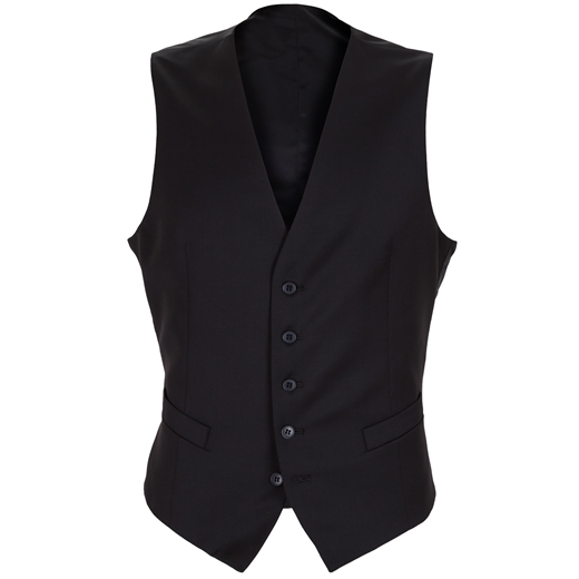 Mighty Black Waistcoat-wedding-Fifth Avenue Menswear