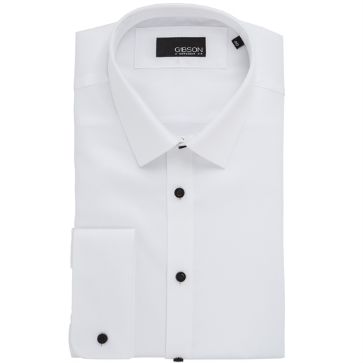 Archie Slim Fit Formal Double Cuff Shirt-shirts-Fifth Avenue Menswear