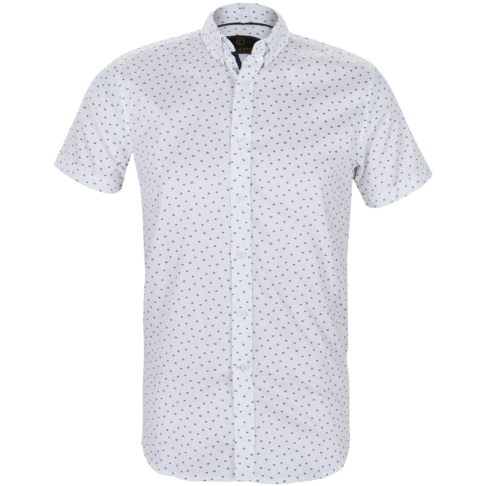 Victor Night Eyes Print Casual Cotton Shirt Shirts Casual Fifth