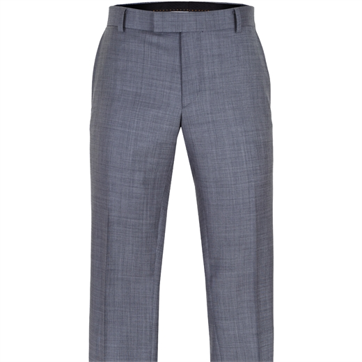 Caper Grey Sharkskin Wool Dress Trouser-trousers-Fifth Avenue Menswear