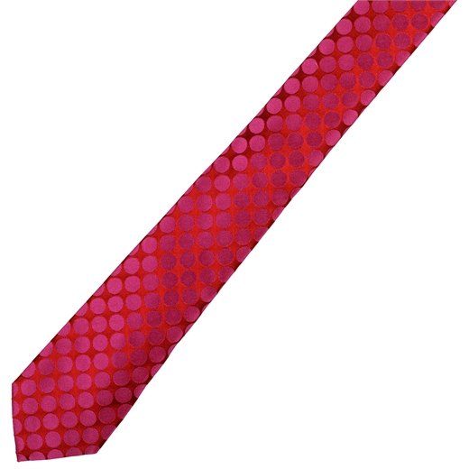 Slim Polka Dots Silk Tie-accessories-Fifth Avenue Menswear