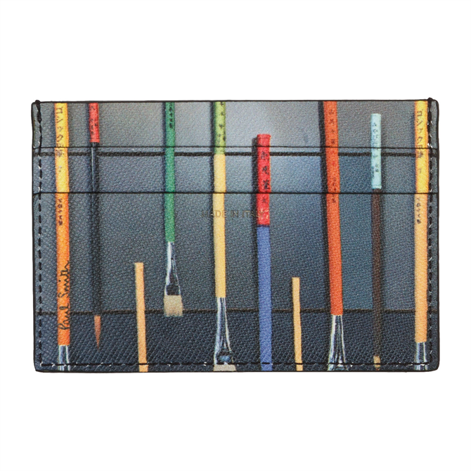 Paint Brushes Print Credit Card Holder