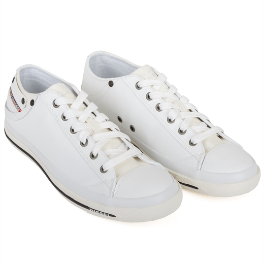Exposure Low White Leather Sneakers-essentials-Fifth Avenue Menswear