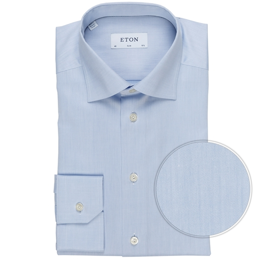 Slim Fit Luxury Cotton Twill Dress Shirt-shirts-Fifth Avenue Menswear