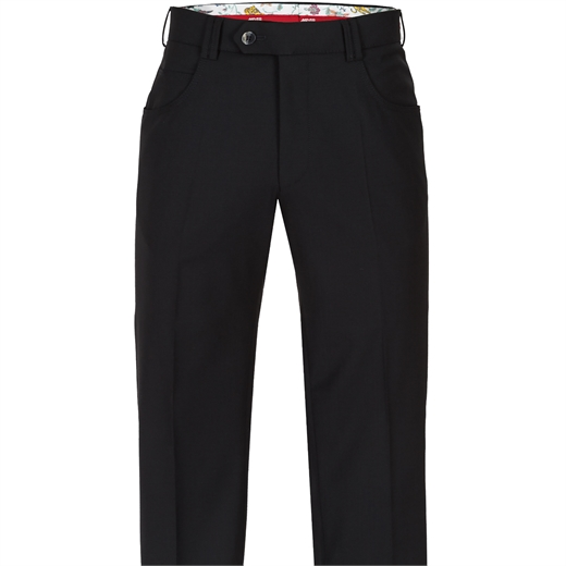 Diego Stretch Wool 5 Pocket Trouser-trousers-Fifth Avenue Menswear