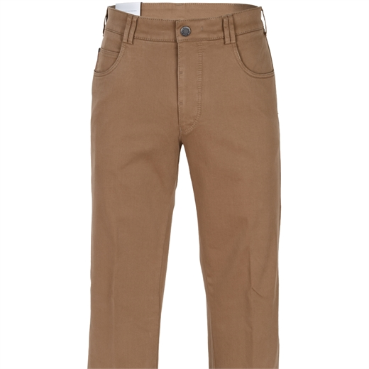 Diego Super Stretch Cotton 5 Pocket Trousers-trousers-Fifth Avenue Menswear
