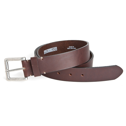 Mulberry Stitched Leather Casual Belt-accessories-Fifth Avenue Menswear