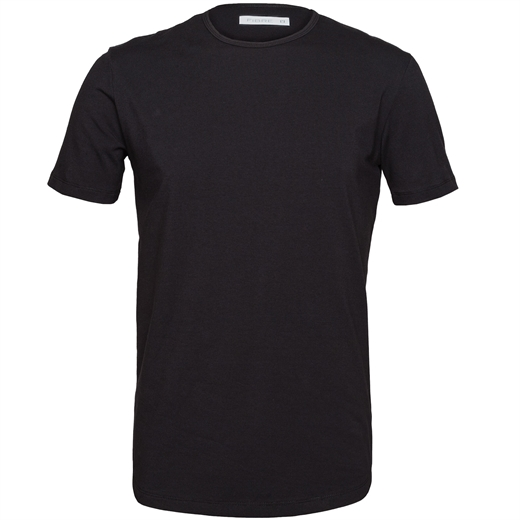Slim Fit Stretch Cotton Crew T-Shirt-t-shirts & polos-Fifth Avenue Menswear
