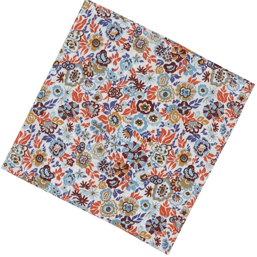 Jazz Floral Fine Cotton Pocket Square-wedding-Fifth Avenue Menswear