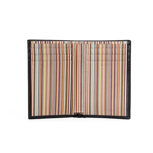 Signature Stripe Interior Credit Card Wallet-gifts-Fifth Avenue Menswear