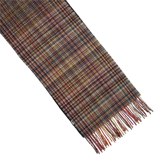 Mixed Signature Stripe & Check Wool Scarf-accessories-Fifth Avenue Menswear