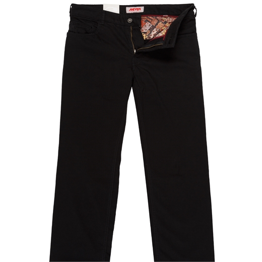 Arizona Super Stretch Black Cotton Jean-jeans-Fifth Avenue Menswear