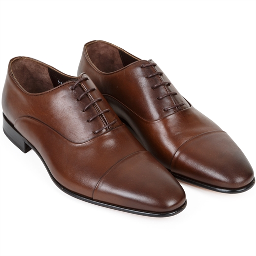 Austin Oxford Toecap Dress Shoe-shoes & boots-Fifth Avenue Menswear