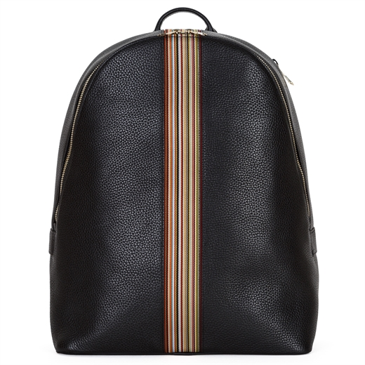 Luxury Leather Signature Stripe Backpack-holiday-Fifth Avenue Menswear