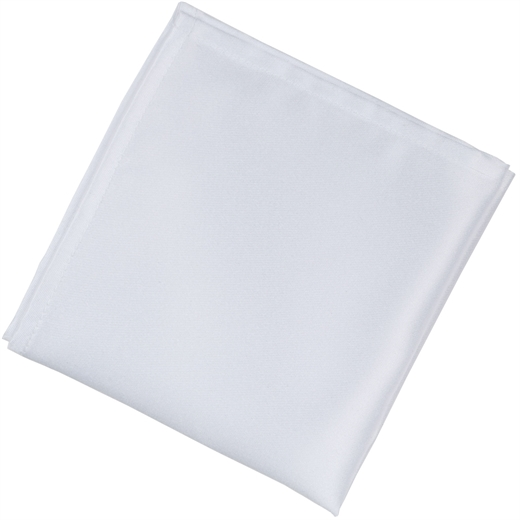 White Italian Satin Pocket Square-Fifth Avenue Menswear