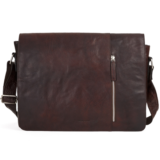 Rustic Leather Computer Satchel-gifts-Fifth Avenue Menswear