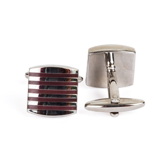 Inlay Stripe Cufflinks-wedding-Fifth Avenue Menswear