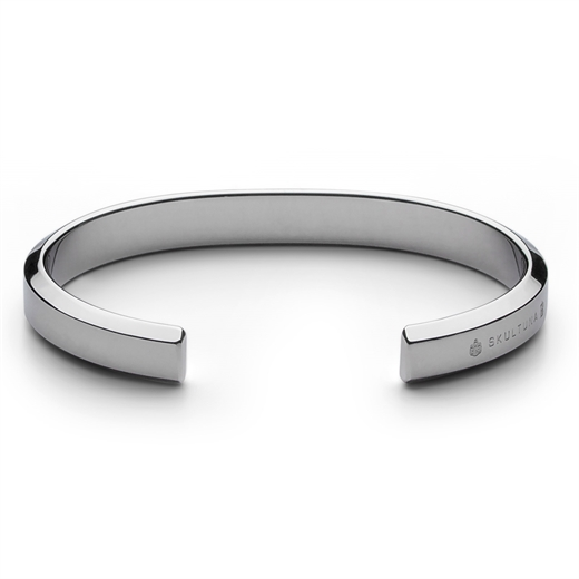Polished Steel Icon Cuff-gifts-Fifth Avenue Menswear