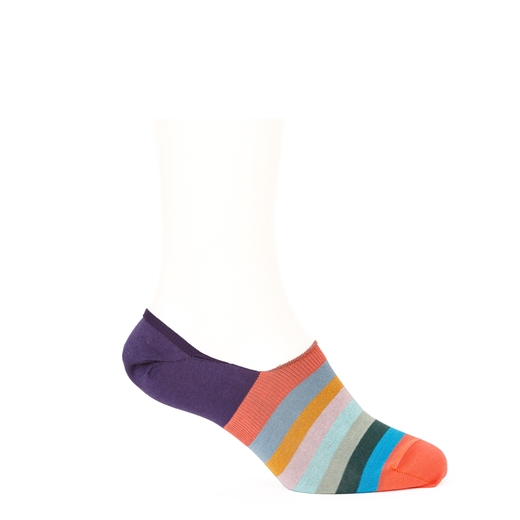 Artist Stripe No Show Loafer Socks-holiday-Fifth Avenue Menswear