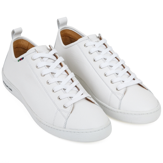 Miyata White Leather Sneaker-essentials-Fifth Avenue Menswear