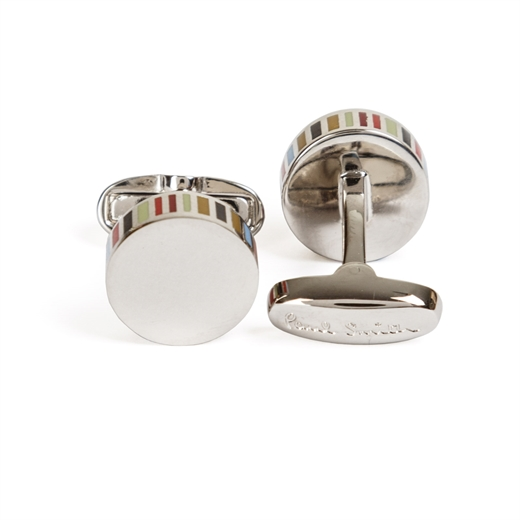 Edge Stripe Cufflinks-new online-Fifth Avenue Menswear