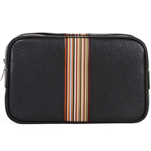 Signature Stripe Leather Wash Bag-new online-Fifth Avenue Menswear