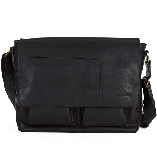 Rustic Leather Tablet Satchel-Fifth Avenue Menswear