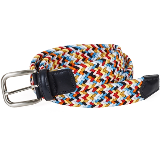 Multi-Coloured Elastic Webbing Belt-gifts-Fifth Avenue Menswear