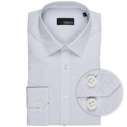 Flame Slim Fit Micro Design Dress Shirt-wedding-Fifth Avenue Menswear