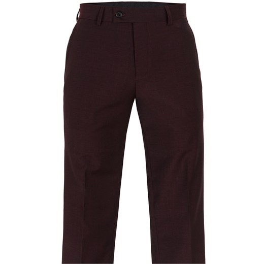 Jack Skinny Fit Burgundy Dress Trousers-wedding-Fifth Avenue Menswear