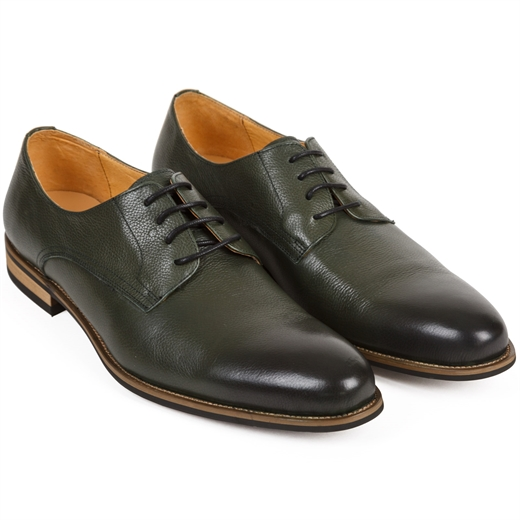 Elliott Green Soft Leather Derby Shoes-shoes & boots-Fifth Avenue Menswear